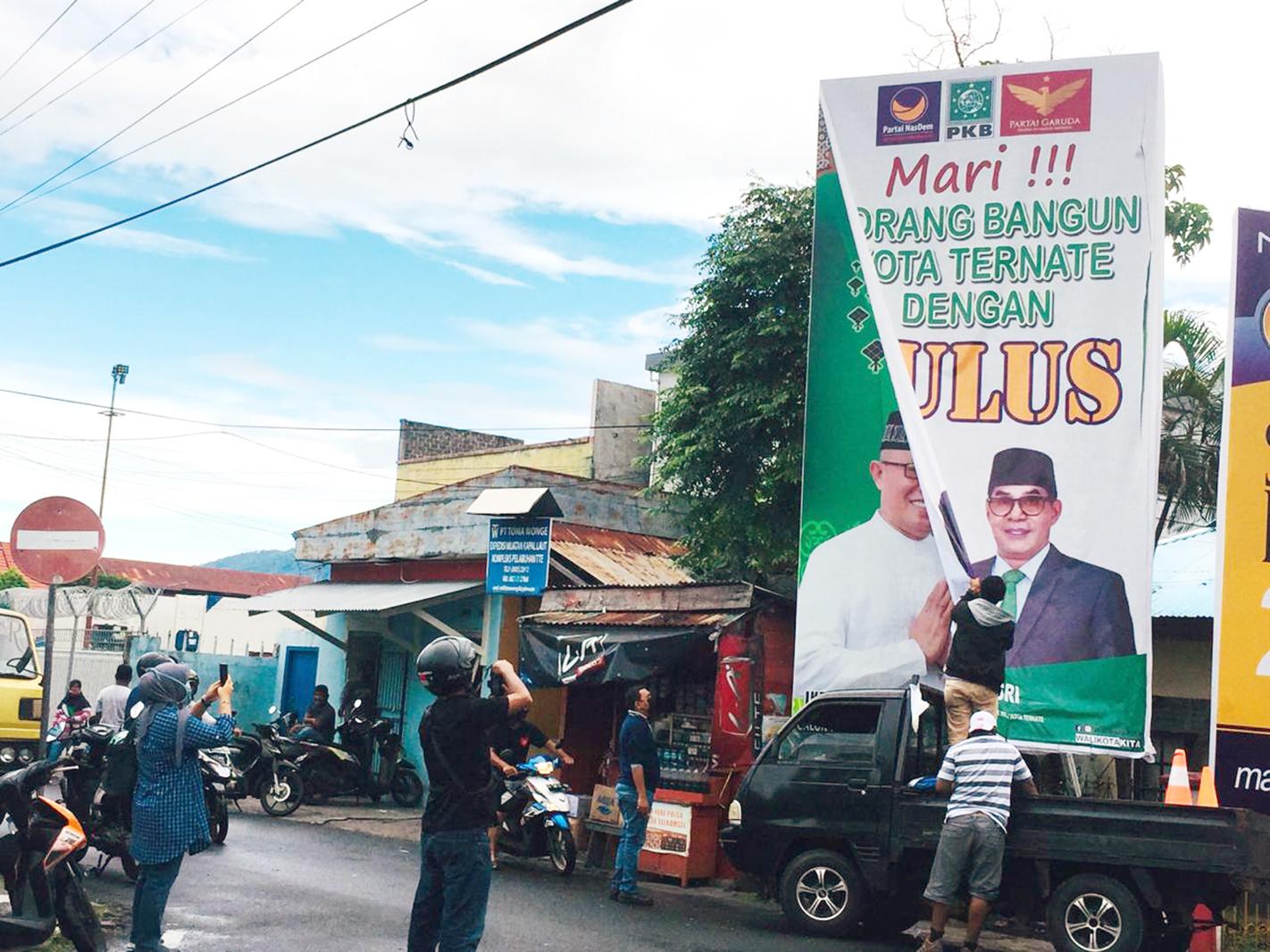 Masuk Masa Kampanye, Sejumlah APK Mulai Ditertibkan